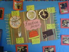 We all know about using food to demonstrate fractions, but I never thought about using it in a display.