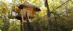 Cabane dans les arbres: la cabane zen / the Zen Treehouse. #cabane #cabanedanslesarbres #treehouse