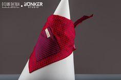 Red Dots Vichy Civic Dog® scarf, square pocket. http://civicdog.com/product/tuli-pañuelo-civic-dog-dots-rojo