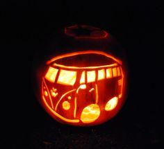 Halloween pumpkin carving: first VW