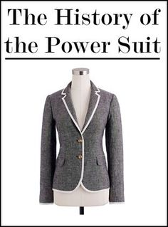 The power suit. Can it really give a woman power? I mean, at the end of the day, it's just clothing. But in the workplace, a sharp matching suit and jacket with a pristine blouse underneath conveys…
