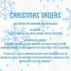 ❄FAO International customers.. ❄It's advisable to order ASAP if you need your kits for Christmas … http://etsy.me/2fV4t4m
