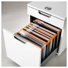 IKEA - SUMMERA, Drop file, patterned, Suitable for paper. Filing Cabinet Organization, Office Organization, Small Storage, Storage Drawers, Table Storage, Rangement Makeup, Drawer Inserts, Recycling, File Organiser