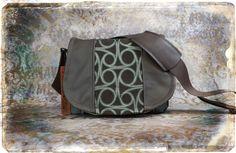 Leather Camera Bag Gray Swirls -  Chocolate Tapestry Medium DSLR - Pre-Order. $140.00, via Etsy.