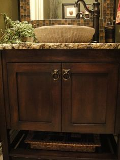Bath Photos Traditional Vessel Sinks Design Ideas, Pictures, Remodel, and Decor - page 5