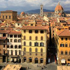 View from the Palazzo Vecchio on a part of the Piazza della Signoria.