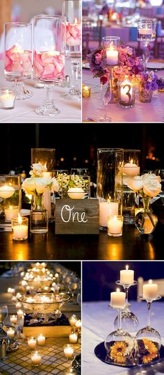 Awesome 88 Romantic Wedding Candlelight Decorations Ideas https://bitecloth.com/2017/07/18/88-romantic-wedding-candlelight-decorations-ideas/