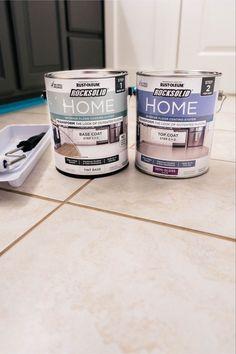 Painting Ceramic Tile Floor, Tile Floor Diy, Painting Tile Floors, Painted Floors, Diy Painting, Diy Floor Paint, Ceramic Tile Floors, Painting Tile Countertops, Painted Kitchen Floors