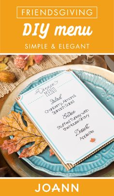 Looking to really step-up your hostess game? Check out this Friendsgiving DIY Menu from JOANN! Simple and elegant, this creative project is an easy way to add that extra-special touch to your Thanksgiving celebration. Thanksgiving Projects, Thanksgiving Celebration, Joanns Fabric And Crafts, Step By Step Instructions, Craft Stores, Menu, Touch, Game, Elegant