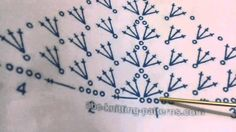 Motivos de croché, triângulo (intro) #crochet #triangulodecroche