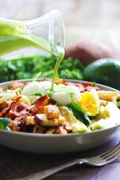 Green Goddess Dressing & Breakfast Salad - Lexi's Clean Kitchen (modify to make vegan)
