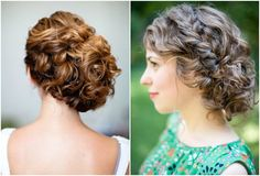 Untamed Tresses | Naturally curly wedding hairstyles (I like the one on the right)