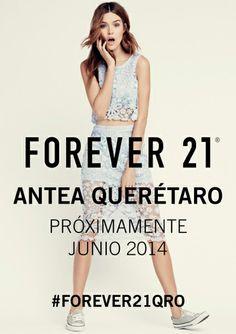 ¡Brinquemos de alegría! #Forever21 llega a #Antea en junio. Cada vez falta menos... @Forever 21 #Queretaro #Mexico #Mall