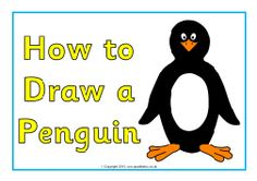 How to draw a penguin posters (SB9207) - SparkleBox