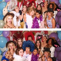 """Pin for Later: Like It or Not, 2015 Was the Year of Taylor Swift's Squad When They Put Everyone Else's Photo Booth Pictures to Shame """"The whole team. @serayah @haimtheband @haileesteinfeld @therealsarahhyland @riiicecakes @gigihadid"""""""