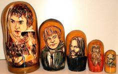 Nesting doll Lord Of The Rings traditional by Viktoriyasshop