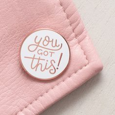 No matter what the situation, with this enamel pin on your lapel you can handle anything! You got this. A lovely shiny pin badge, featuring our hand drawn