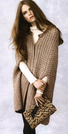 if you're tall & slender or tall & stauesque. otherwise stay away. this shape will swallow or turn a petite/avg height woman into a block w/ legs. a long, textured knit sweater w/ 3/4 sleeves is a better look.