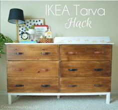s 17 insanely easy ways to make ikea furniture look amazingly high end, painted furniture, Add leather handles to a boring TARVA