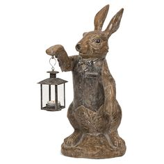 IMAX Mr. Rabbit Polyresin Candle Lantern