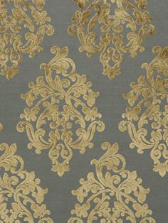 Grey Velvet Damask Upholstery Fabric - Beige Velvet - Modern Damask Material - Velvet by the Yard - Textured Velvet Home Decor Victorian Wallpaper, Damask Wallpaper, Painting Wallpaper, Pillow Fabric, Drapery Fabric, Fabric Sofa, Fabric Textures, Fabric Patterns, Diy Jewelry Hanger
