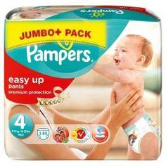 Pack économique d'une quantité de 140 Couches Pampers Easy Up taille 4 sur Couches Zone
