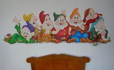 Muurschildering de 7 dwergen www.d-styleart.nl