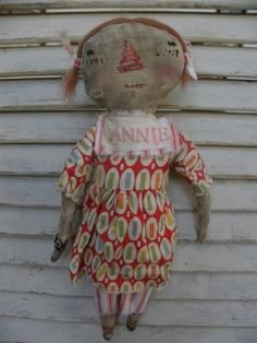 Too Cute Vintage Antique like Small Raggedy Ann by by mustardseed