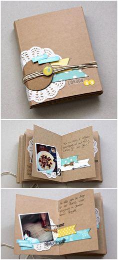 La profesora enseñará a los niños a hacer un álbum con cartulinas y cola…
