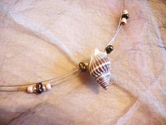 """Meeresgrund"" Belly Button Rings, Jewelry, Fashion, Snails, Clams, Neck Chain, Beads, Schmuck, Moda"