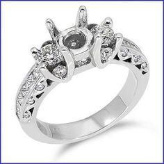 Gregorio 18K WG Diamond Engagement Ring R-212