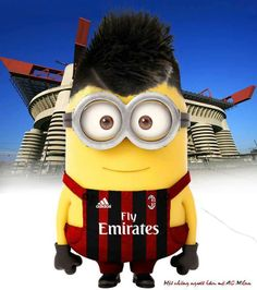 El Shaarawy as a minion awwwww omg Cute Minions, Minions Despicable Me, Banana Language, Funny Character, Ac Milan, Soccer Players, Guys And Girls, I Movie, Funny Pictures
