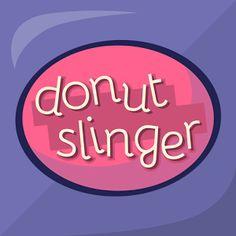 Donut Slinger | Mobile Game | Game Art | Logo Design | Donut Love | Designed by Craft Brewed Games