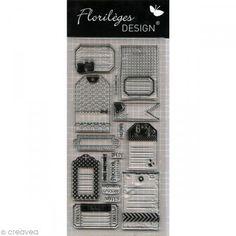 Tampon clear Florilèges Design - Folles étiquettes x 16