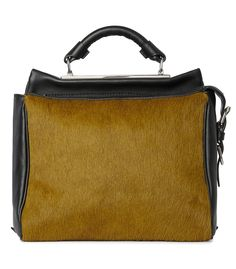 The New 3.1 Phillip Lim Ryder Bag at #ShopBAZAAR – Olive Calfhair Small Ryder Satchel