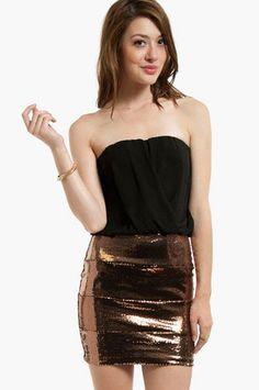 Christina Sequin Dress $38 at www.tobi.com