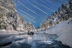 30 Fotografías del cielo nocturno que te fascinarán Arctic Blast, The Mont, Winter Scenes, Mount Rainier, Waves, Mountains, Sunset, Landscape, Outdoor