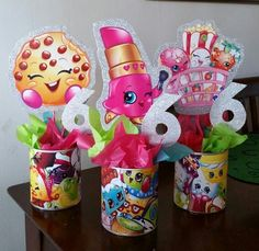 Shopkins 5th Birthday, 9th Birthday Parties, Birthday Fun, Shopkins Pool Party, Shopkins Pinata, Birthday Ideas, Party Centerpieces, Birthday Decorations, Party Time