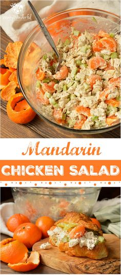 Take a break from boring old chicken salad and make this Mandarin Orange Chicken Salad Recipe. The tangy dijon mustard and sweet mandarin oranges take this chicken salad to the next level! With just 5 ingredients this makes a great nutritious lunch or dinner and can be made into a Whole30 compliant recipe. #healthy #whole30 #wonkywonderful