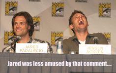 Jensen Ackles and Jared Padalecki, Comic Con, 2010