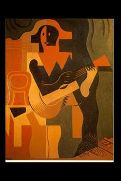 """Juan Gris - """"Harlequin with Guitar"""", 1919 - Oil on canvas - 116 x 89 cm"""