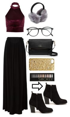 """""""Baby it's cold outsideeeee (but I'm not going to wear a coat bc it doesn't match)"""" by lauracooperrrr on Polyvore featuring River Island, Nly Shoes, Just Cavalli, RetroSuperFuture, Marc by Marc Jacobs, Kate Spade and Forever 21"""