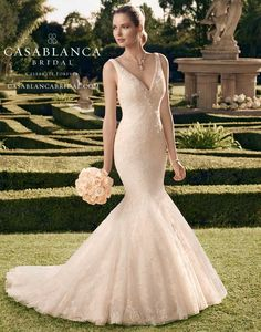 Casablanca Bridal Style: 2165, Size: 10, Color: Ivory/Ivory/Silver, Price: $1,705, Sample Sale Price: $1,150!