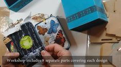This little box with Mixed Media projects designed by Erica Evans holds a multitude of Mixed Media Craft techniques all in one place. Each video seeks to take you step by step through each surface, expanding your Mixed Media knowledge. A must for those looking to further their Mixed Media Skills.