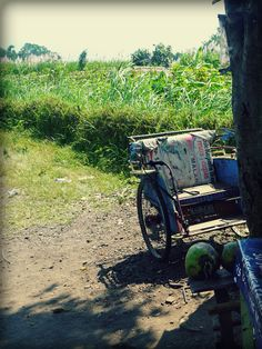 old becak. java. indonesia