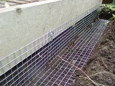 Image result for skirting under a shed discourage rodents