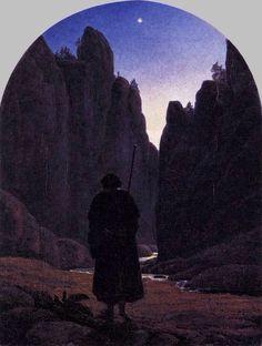 Carl Gustav Carus, Pilgrim in a Rocky Valley c. 1820