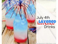 4th of July layered drinks ❤️ #Food #Drink #Trusper #Tip