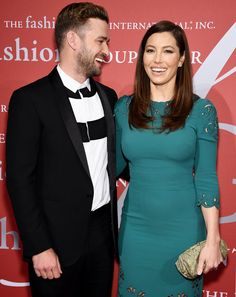 Justin Timberlake and Jessica Biel were all smiles at the Fashion Group International Night of Stars Gala.