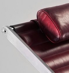 This Icon of form follows function has now been re invented for the 21st century, turning a ubiquitous utilitarian object into something of great beauty, style and elegance which would not look out of place in the finest of contemporary interiors. Available in Black or Burgundy hide, Other colours to order.